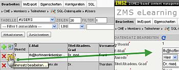 ZMS MySQL Schnittstelle