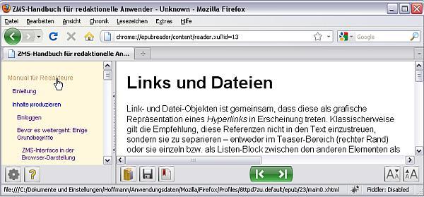 Firefox EPUBreader